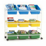 Classroom Storage Cart plus 9 tubs